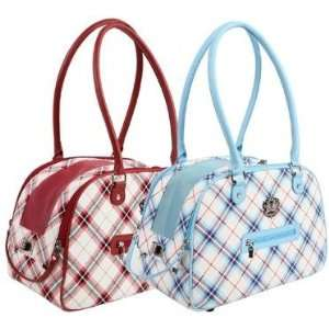 Red Plaid Pet Carrier For Dog or Cat New On Sale Patio, Lawn & Garden