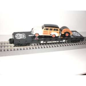 ROUTE 66 FLAT CAR WIYH FORD WAGON &TRAILER Toys & Games