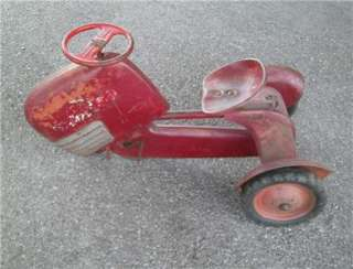 BMC CHAIN DRIVEN PEDAL TRACTOR CAR RED RIDE ON TOY KIDS PARTS REPAIR