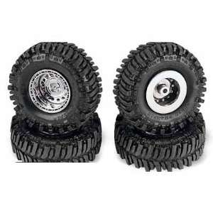 Set of 4 TSL Bogger Tires on Stone Crusher Rims: Toys & Games