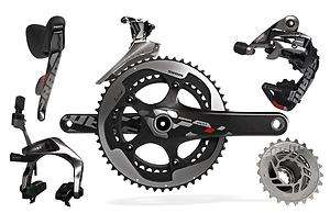 2012 SRAM RED FULL ROAD BICYCLE GROUP KIT 10 SPEED GRUPPO 170MM GXP