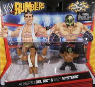RUMBLERS ALBERTO DEL RIO & REY MYSTERIO 2 PACK ACTION FIGURE TOY