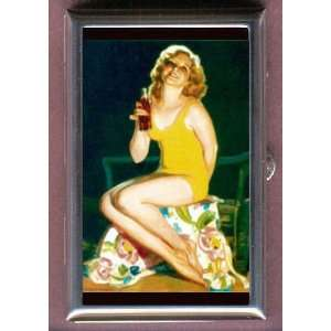 VINTAGE BATHING BEAUTY PIN UP Coin, Mint or Pill Box Made
