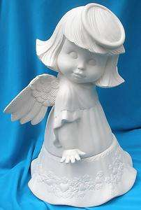 LARGE SWEET TOT ANGEL #2 CERAMIC BISQUE ANGELS