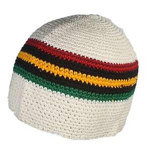 Skull Kufi Crochett Rasta Reggae Jamaica Irie Crown S/M