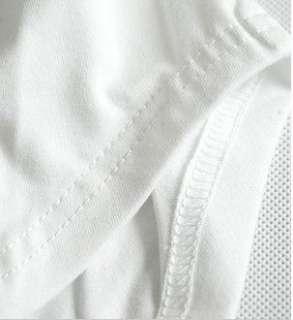 Korea Women Plain Crew Puff Sleeve T shirt Top Casual
