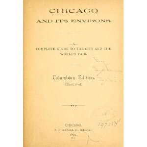 Chicago And Its Environs Louis Schick Books
