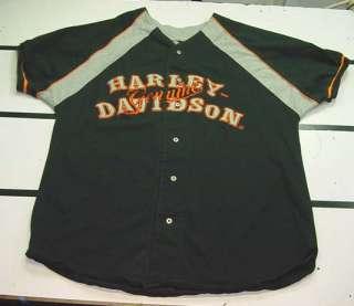HARLEY DAVIDSON MOTORCYCLE Las Vegas BASEBALL JERSEY SHIRT Sz Mens XXL