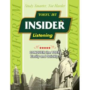 LinguaForum TOEFL iBT Insider Listening w/ 8 Audio CDs