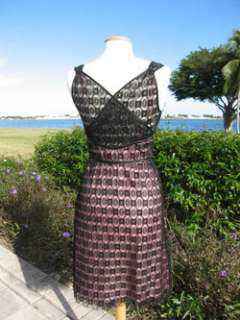 TOCCA GLAMOROUS PINK SILK BLACK LACE PARTY DRESS~NEW~4