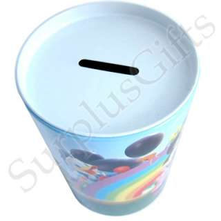 Disney Mickey & Friends Rainbow Tin Tube Piggy Bank