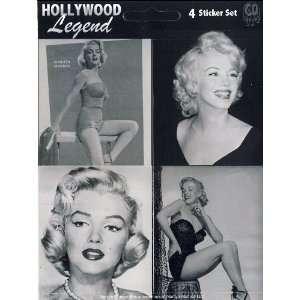 Marilyn Monroe   Set of 4 black & white Stickers (sheet)