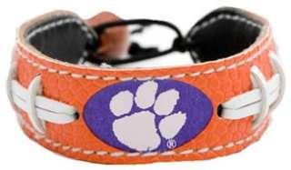 Clemson Tigers Team Color NCAA Football Bracelet WristBand