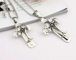 Fashion Three Layer Cross Pendant Necklace SX00108