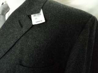 NWT $4900 THOM BROWNE Black Fleece 100%CASHMERE COAT BB4 44 R