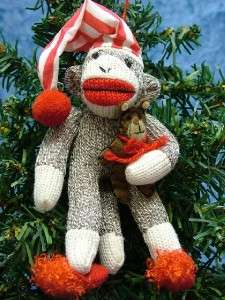 Cap Sleep Sock Monkey Teddy Bear Slippers Christmas Ornament