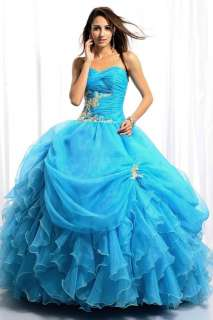 Elegant Ball Gown Evening Prom Wedding Bridal Bridesmaid Dress Size