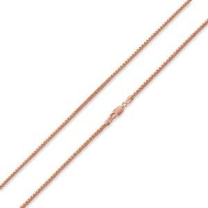 Rose Gold Plated Sterling Silver Italian 18 Box Chain 2.1MM Jewelry