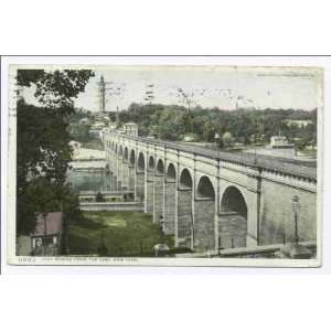 High Bridge from the East, New York, N. Y 1898 1931