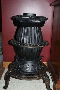 CAST IRON POT BELLY STOVE~ACME~Late 1800S   Early 1900S