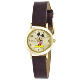 Disney Womens MCK614 Mickey Mouse Gold Tone Watch