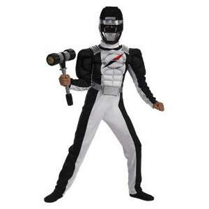 Black Ranger Quality Muscle Costume Boys Size 4 6 Toys