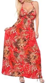Hot New Maxi Boho Vintage Halter Celeb Party Long Dress