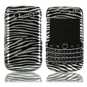 For Blackberry Bold 2 9700 Hard Case Silver/Black Zebra