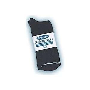 PEL PECDSOCKBK Black Men s Diabetic Socks Size 10 13   6
