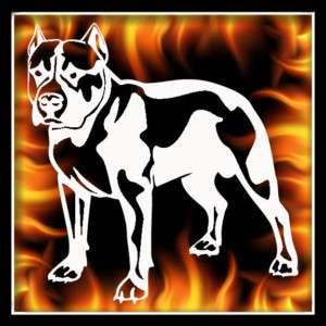 Pitbull 2 airbrush stencil template harley paint