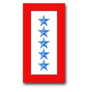 United States Army  Five Blue Stars  Service Flag Decal