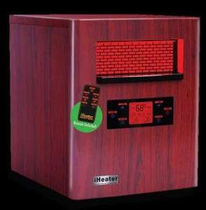 iHeater 1500 Wood grain Quartz Infrared Electric Heater