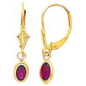 14K Gold Rhodolite June Birthstone Earrings Jewelry Jewelry