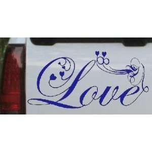 5in X 10.3in Blue    Love Swirl With Hearts Christian Car Window Wall
