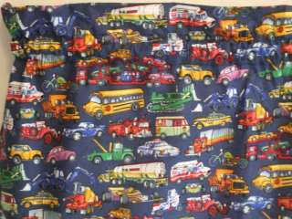 Curtain Valance *BIG BOY TOYS*CARS*TRUCKS*BUSES*BIKES* Free Ship