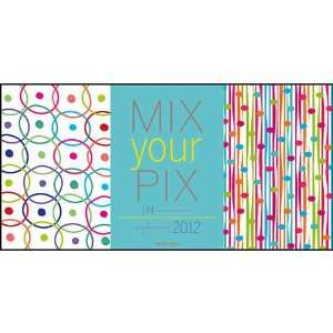 Eslick Patterns Mix Your Pix 2012 Easel Desk Calendar: Office Products