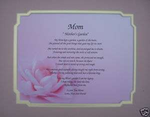 POEM FOR MOM PERSONALIZED MOTHERS DAY GIFT OR BIRTHDAY