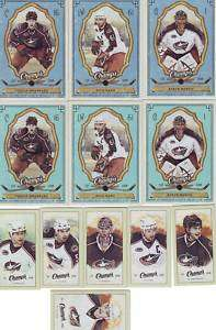 09 10 UD CHAMPS MINI COLUMBUS BLUE JACKETS TEAM SET