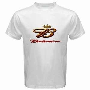 Budweiser Beer Logo New White T Shirt Size  S Free