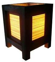 LOVELY MINI ASIAN ORIENTAL NATURE BAMBOO TABLE LAMP