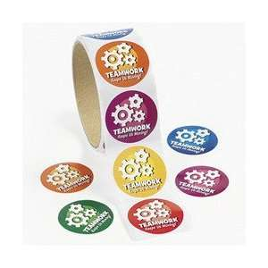TEAM WORK ROLL STICKERS (100 STICKERS)   BULK Toys