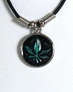 Wholesale Lot   12   Marijuana Leaf Pot Necklaces J21