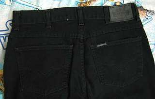 Harley Davidson BLACK DENIM JEANS Ladies 14 Long 14L boot cut Waist 32