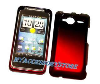 Sprint HTC Evo Shift 4G ( Slide ) Red Snap On Hard Phone Faceplate