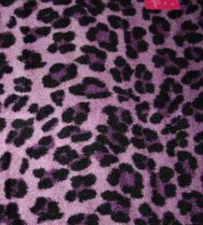 LEOPARD Cheetah Cat PURPLE BLACK Room Area Rug 4x6 OR 2x4