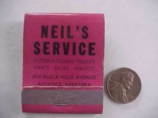 Alliance Nebraska International Harvester Trucks & Tractors matchbook