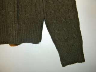 Crew Wool Cashmere Angora Blend Sweater   Mens Large