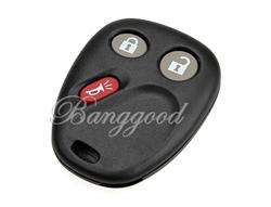 BLANK KEY FOB CASE SHELL & PAD FOR Chevrolet CHEVY GMC 3BT