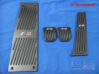 BMW M e60 e61 e63 e64 F10 X5 E70 M5 M6 Auto ALUMINUM BLACK PEDALS PAD