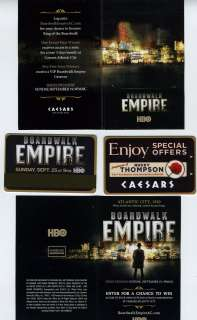Caesars Atlantic City Boardwalk Empire Room Key & Card Jacket Nucky